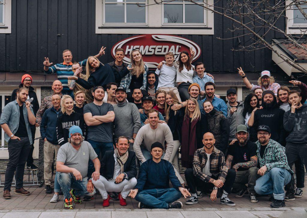 Bilde av arbeidere på Hemsedal Cafe