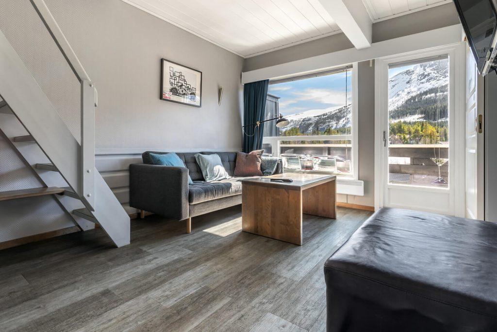 Utsikten over fjellet fra Hemsedal Cafe Skiers lode