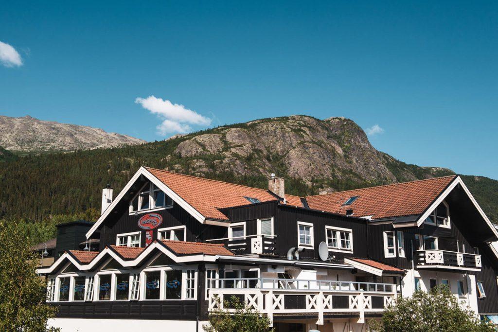 Hemsedal Café overnatting ute om sommeren